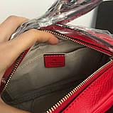 Сумка, клатч Гучи Soho, натуральна шкіра, колір червоний, фото 7