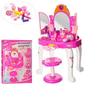 Дитяче трюмо, дзеркало, туалетний столик для дівчинки з аксесуарами та музикою