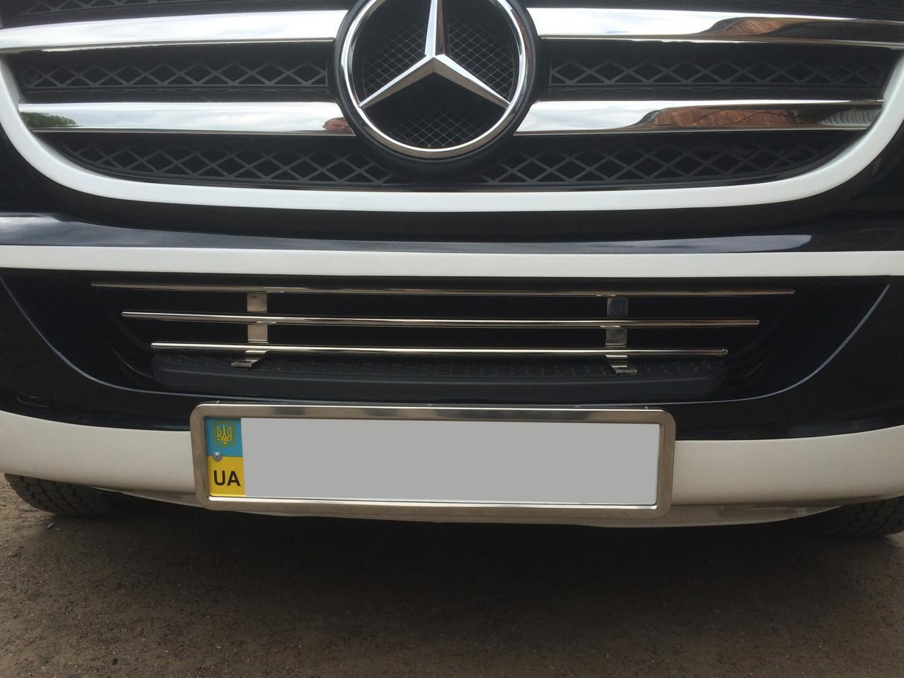 Решетка в бампер (нерж) - Mercedes Sprinter 2006-2018 гг.