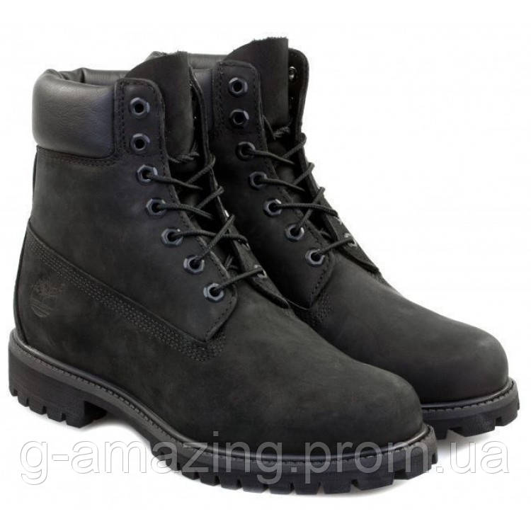 "Ботинки Timberland ""Black"" (натуральный мех)"