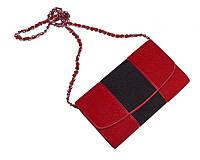 Клатч из кожи морского ската Ekzotic Leather Красно - черный (sb08_1), фото 1