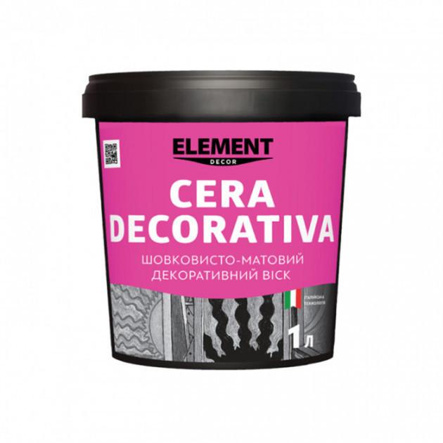 Декоративный матовый воск Element Decor CERA DECORATIVA 1 л