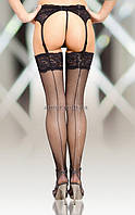 Чулки «Stockings 5537» черные, 4
