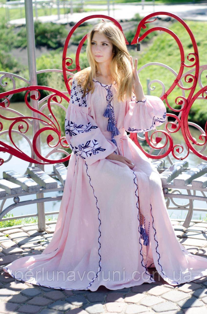 Платье с вышивкой СЖ 0908 e12469bb12aaa