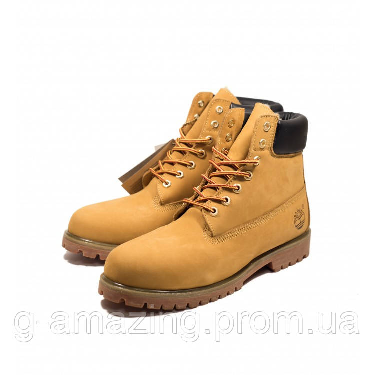 "Ботинки Timberland ""Yellow"" (искусственный мех)"