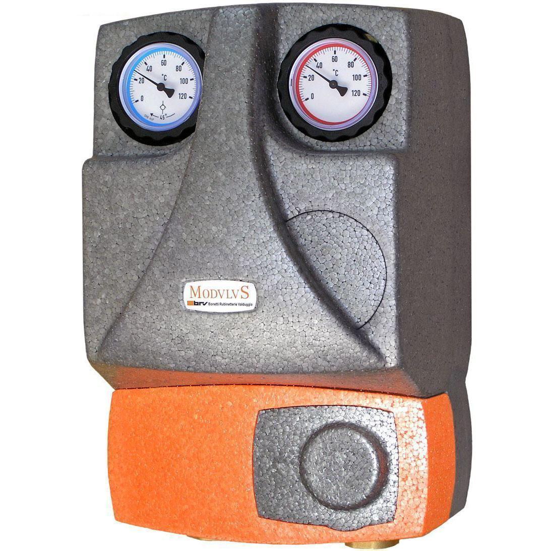 Насосная группа для твердотопливных котлов и систем отопления BRV 21355 (R) без смесителя, 2 линии