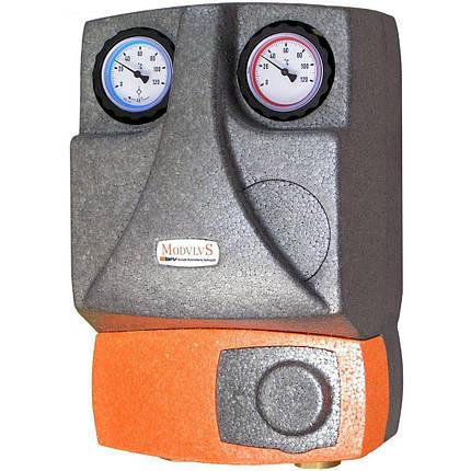 Насосная группа для твердотопливных котлов и систем отопления BRV 21355 (R) без смесителя, 2 линии, фото 2