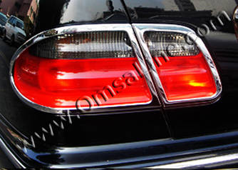 Накладки на стопи (2 шт., пласт) - Mercedes E-klass W210