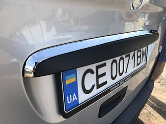 Хром планка над номером (нерж) - Mercedes Citan 2013+ гг.