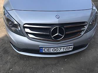 Накладки на решетку (5 шт, нерж) - Mercedes Citan 2013+ гг.