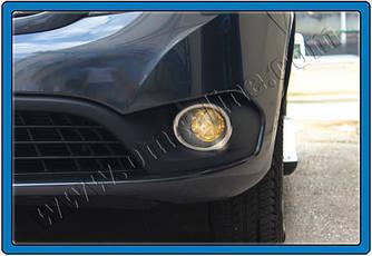 Окантовка протитуманки (2 шт., нерж) - Mercedes Citan 2013+ рр.