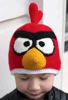 """Шапка детская вязанная ручная работа """"Angry Birds"""" (Энгри Бердс)"""