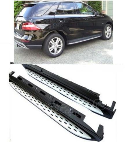 Боковые площадки Оригинальный дизайн (2 шт., алюминий) - Mercedes GLE/ML klass W166