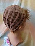 Короткий парик из термоволокна русый 2763t-10, фото 7