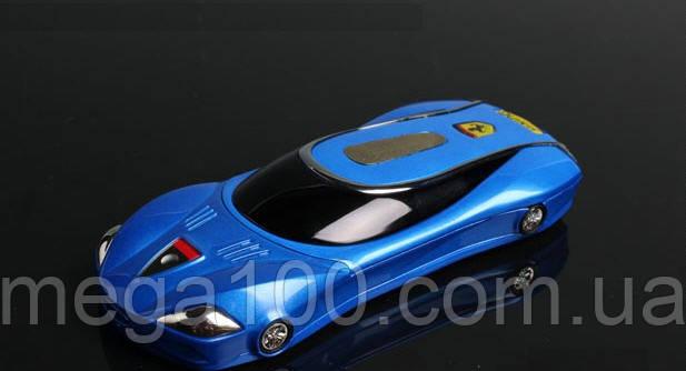 Телефон машинка Ferrari F9 синяя