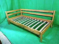 Дубовая одноярусная кровать 90\190 Lnk Company