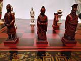 Шахматы антиквариат 44*44 см китайские подарочные (столиком), фото 2