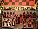 Шахматы антиквариат 44*44 см китайские подарочные (столиком), фото 7