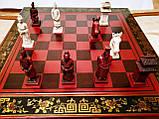 Шахматы антиквариат 44*44 см китайские подарочные (столиком), фото 3