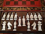 Шахматы антиквариат 44*44 см китайские подарочные (столиком), фото 6