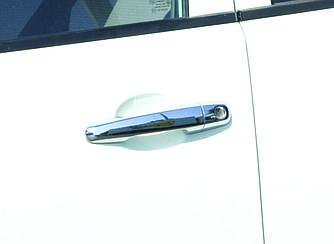 Накладки на ручки (4 шт, нерж.) - Mitsubishi L200 2006-2015 гг.