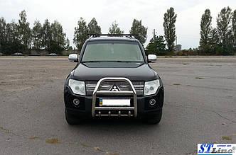 Кенгурятник QT007 (нерж.) - Mitsubishi Pajero Wagon IV