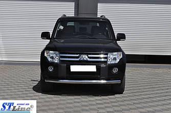 Передняя защита ST008 (нерж.) - Mitsubishi Pajero Wagon IV