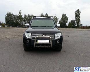 Кенгурятник QT006 (нерж.) - Mitsubishi Pajero Wagon IV