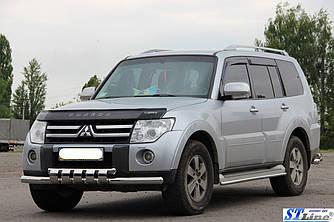 Передняя защита ST015 (нерж.) - Mitsubishi Pajero Wagon IV