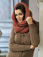 Модный стильный шарф-туба от Kamea - Tatiana терракотовый