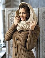 Модный стильный шарф-туба от Kamea - Tatiana светло-бежевый