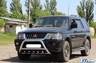 Кенгурятник WT003 (нерж) - Mitsubishi Pajero Sport 1996-2007 гг.