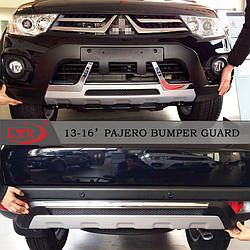 Передняя и задняя накладки (2013-2015) - Mitsubishi Pajero Sport 2008-2015 гг.