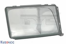 Стекло фары левое Mercedes 124 (TYC)