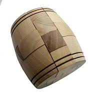 Деревянная головоломка Круть Верть Боченок 8х8х8 см nevg-0045, КОД: 119499