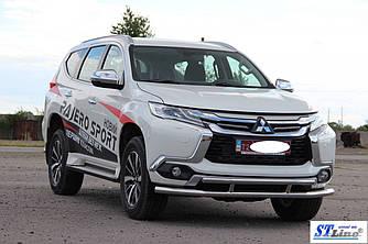 Передняя защита ST016 (нерж) - Mitsubishi Pajero Sport 2015+ гг.