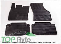 Stingray Резиновые коврики VW Golf 7 Audi A3 Seat Leon 2012-