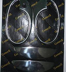 Накладки на ручки с обводкой (2 двер., нерж.) - Opel Combo 2002-2012 гг.