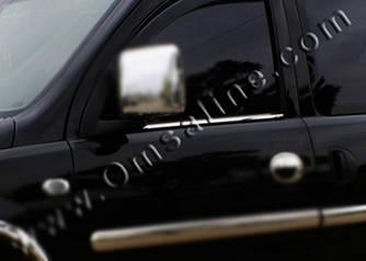 Наружняя окантовка стекол (2 шт, нерж.) - Opel Combo 2002-2012 гг.