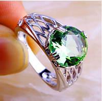Серебряное кольцо, Ободок, с камнем куб. цирконий, размер 17