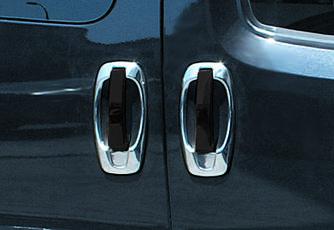 Накладка вокруг ручек (4 шт, нерж) - Opel Combo 2012-2018 гг.