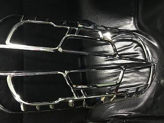 Окантовка на стопы (2015+, 2 шт, пласт) - Opel Combo 2012-2018 гг.