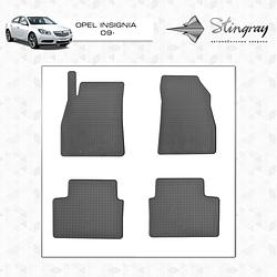 Резиновые коврики (4 шт, Stingray Premium) - Opel Insignia 2010-2017 гг.