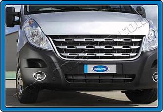 Накладки на противотуманки (2 шт., нерж.) - Opel Movano 2010+ рр.
