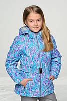 Термокомплект зимний (куртка + полукомбинезон) для девочки Baby Line Бирюзовый с серым