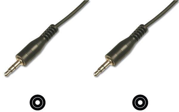 Кабель ASSMANN аудио соединительный, стерео 3.5mm M/M, 1.5m black, фото 2