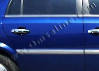 Накладки на ручки (4 шт., нерж) - Opel Vectra C 2004+ гг.
