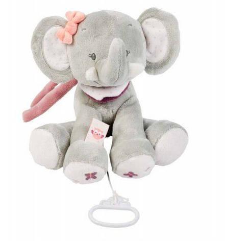 Nattou Мягкая игрушка с музыкой слоник Адель 28см. 424059, фото 2