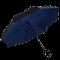 Зонт обратного сложения Up-Brella Темно-синий , фото 1