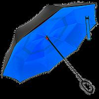 Зонт обратного сложения Up-Brella Синий , фото 1